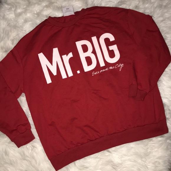 """adf8a3f2 Zara """"Mr. Big"""" Sex and the City Sweatshirt. M_5a87b8985521be2f0acd09f0"""